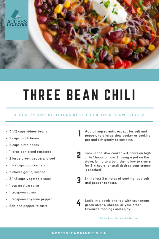 Three Bean Chili recipe to make at home this winter